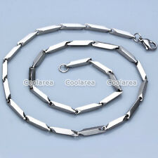 1x MENS WOMENS Unisex Stainless Steel 3mm Silver Link Chain Necklace Findings