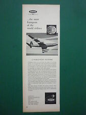 3/1959 PUB COMPAGNIE SABENA BELGIAN WORLD AIRLINES BOEING 707 AFRICA CONGO AD