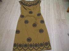 BODEN GOLD EMBROIDERED  DRESS SIZE 6 LONG  BNWOT