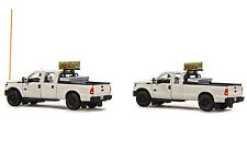 Ford F250 Pickup Trucks - Oversize Load Escort Set - 1/50 - Sword #SW1300W