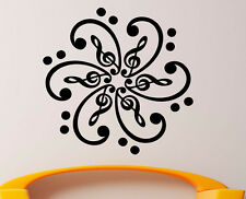 Music Wall Decal Vinyl Sticker Music Notes Treble Clef Interior Art Decor (20mu)