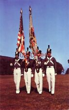 At every review or retreat, THE COLOR GUARD, WEST POINT, N.Y. Regimental flag
