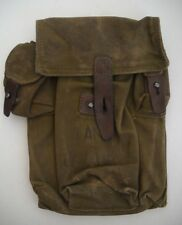 """MILITARY SURPLUS 3 MAG/AMMO POUCH, MEASURES 9-1/2"""" x 7"""" x 3"""", CANVAS & LEATHER"""