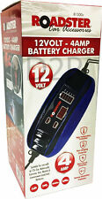12 VOLT 4 AMP 12V 6V AUTOMATIC INTELLIGENT BATTERY CHARGER TRICKLE FAST CAR VAN