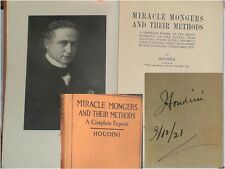 """Harry Houdini Stunning Signed Autographed Book """"Miracle Mongers"""" JSA Certified"""