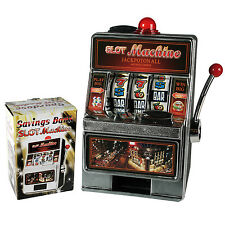 Vintage Retro Casino Slot Machine Plastic Savings Bank Money Box 2 in 1 Storage