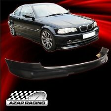 1999-2003 H Style Front Bumper Lip Spoiler Black For BMW E46 3-Series Sedan 2Dr