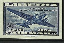 LIBERIA AVIATION 1° VOL LIBERIAN AIRWAYS ESSAI TRIAL COLOR PROOF ESSAY ** 1948