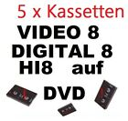 5 x VHS-C, Video 8, Hi8, MiniDV auf DVD digitalisieren