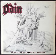 ODIN DON'T TAKE NO FOR AN ANSWER USA heavy metal on Half Wet records WHITE VINYL