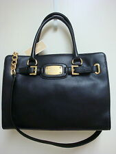 NEW MICHAEL KORS HAMILTON E/W BLACK LEATHER PURSE OR TOTE
