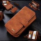 Detachable Handbag Pouch Zipper Wallet Card Leather Case For iPhone 6 6s Plus