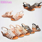 Women's Fashion Rhinestone Strap Low Wedge Sandals Shoes All Size 5 - 10 NEW