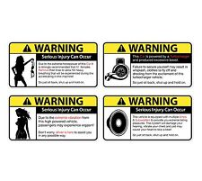 Fun Warning Car Emblem vinyl sticker decal 8pcs