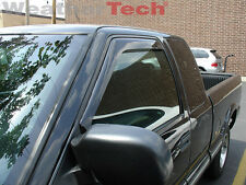 WeatherTech Side Window Deflectors - 1994-2004 - Chevy S-10  Extended Cab -70018