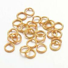 300 x GOLD PLATED Iron STRONG 5mm Split Jump Rings Craft Jewellery Making