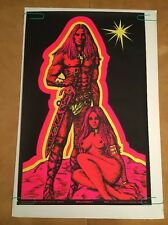 Man & Woman II Houston Blacklight Vintage Poster Psychedelic 1970 Original 70s
