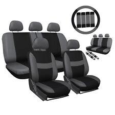 High Softness Gray Black Car Seat Cover for Full Set Steering Wheel 4 Seasons