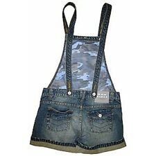 Bleubolt Denim Womens Girls Shorts Dungarees Bib and Braces