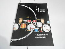 VINTAGE MUSICAL INSTRUMENT CATALOG #10702 - 1975 SONOR DRUM DRUMS
