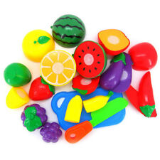 Cute Kids Pretend Role Play Kitchen Fruit Vegetable Food Toys Cutting NEW