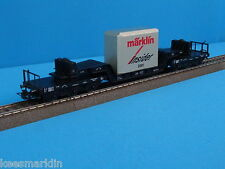 "Marklin 46181  Well Wagon with Cast Metal blocl Load   ""Insider model 2001"""
