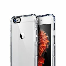 AmorTek iPhone 6 6s 4.7Ultra Thin Soft TPU Crystal Clear Hard Bumper Case    S