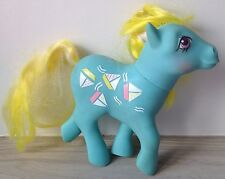 Vintage My Little Pony Main Sail Mainsail Boat Sunshine Blue Yellow Collectable