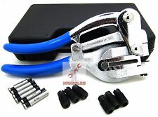 New Power Hole Punch Kit - Sheet Metal - Hand Tool Set HEAVY DUTY Punch Kit