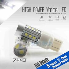 2X 1200 LM 50W 7443 SRCK CK High Power LED Chip White Turn Signal Light Bulbs