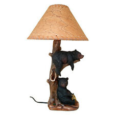 Western Black Bears Table Desk Lamp Light - Cabin Country Rustic Ranch - NEW