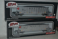 2 Atlas CN Canadian National  Coal Gondolas with Loads Ho Scale