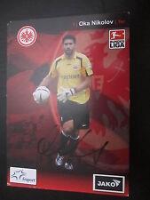 21442 Oka Nikolov Eintracht Frankfurt 07-08 original signierte Autogrammkarte