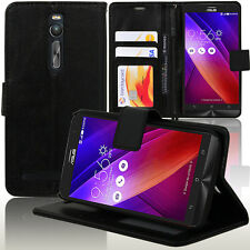 Housse Etui Coque Portefeuille Support Video NOIR Asus Zenfone 2 ZE550ML ZE551ML