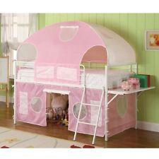 Coaster Girls Tent Bunk Bed -Pink/White 460202