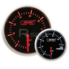 Prosport 52mm Super Smoked Amber / White Oil Pressure BAR Gauge