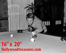 """Steve McQueen ~Shooting Pool~Playing Pool~Billiards~#1~16"""" x 20""""~Poster~ Photo"""