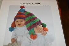 MinnowKnits Knitting Pattern 208 Sprite Cap Chullo with ear flaps 6mo to 4 yrs