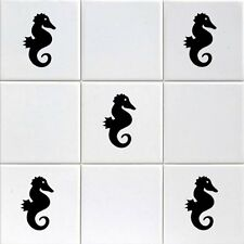 12X SEAHORSE TILE- WALL STICKERS /TILE DECALS TRANSFORM YOUR BATHROOM / BAR/ ect
