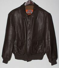 COOPER A-2 Brown GOATSKIN Leather USAF BOMBER Flight Jacket 42R Made in USA NR