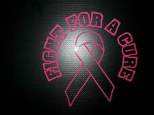 Pink breast cancer Decal awareness Survivor ribbon car truck Window sticker A