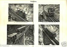 1888= CREMAGLIERE = Industria = STAMPA Antica = Old Engraving