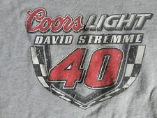 Coors Light David Stremme 40 Gray T Shirt Adult L Free US Shipping
