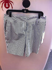 Women's Cutter & Buck Stripe Play Golf Short color Black/White Size 14