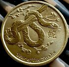 Australian $1 One Dollar Coin 2013 Uncirculated Dollar Year Of The Snake ✔️