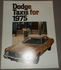 1975 Dodge Taxis Sales Catalog
