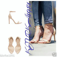 Zara nude barely there cuir talons/sandales, UK5/EU38