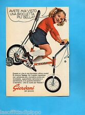 TOP973-PUBBLICITA'/ADVERTISING-1973- GIORDANI - BICICLETTA TEXINA