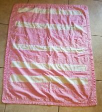 """HAND MADE Finished  Strip QUILT EASTER QUILT 40"""" X 32"""" Baby Blanket First Easter"""