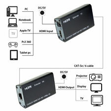 HDMI Balun Extender over single Cat-6/6A HD 196FT 60M 3D Capable 1080p